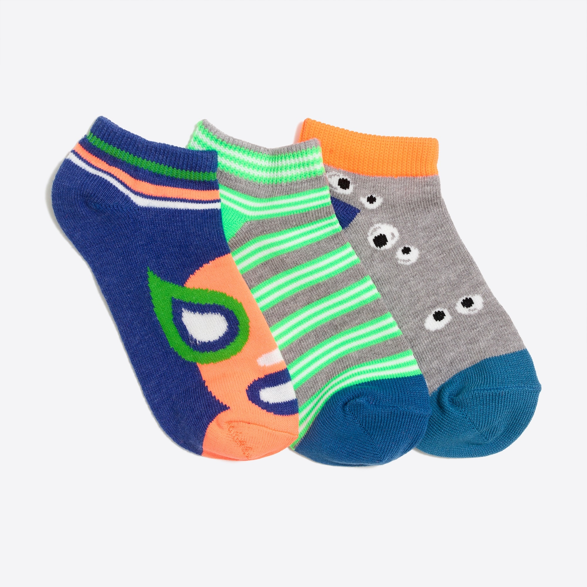 Boys' hero eyes ankle socks three-pack