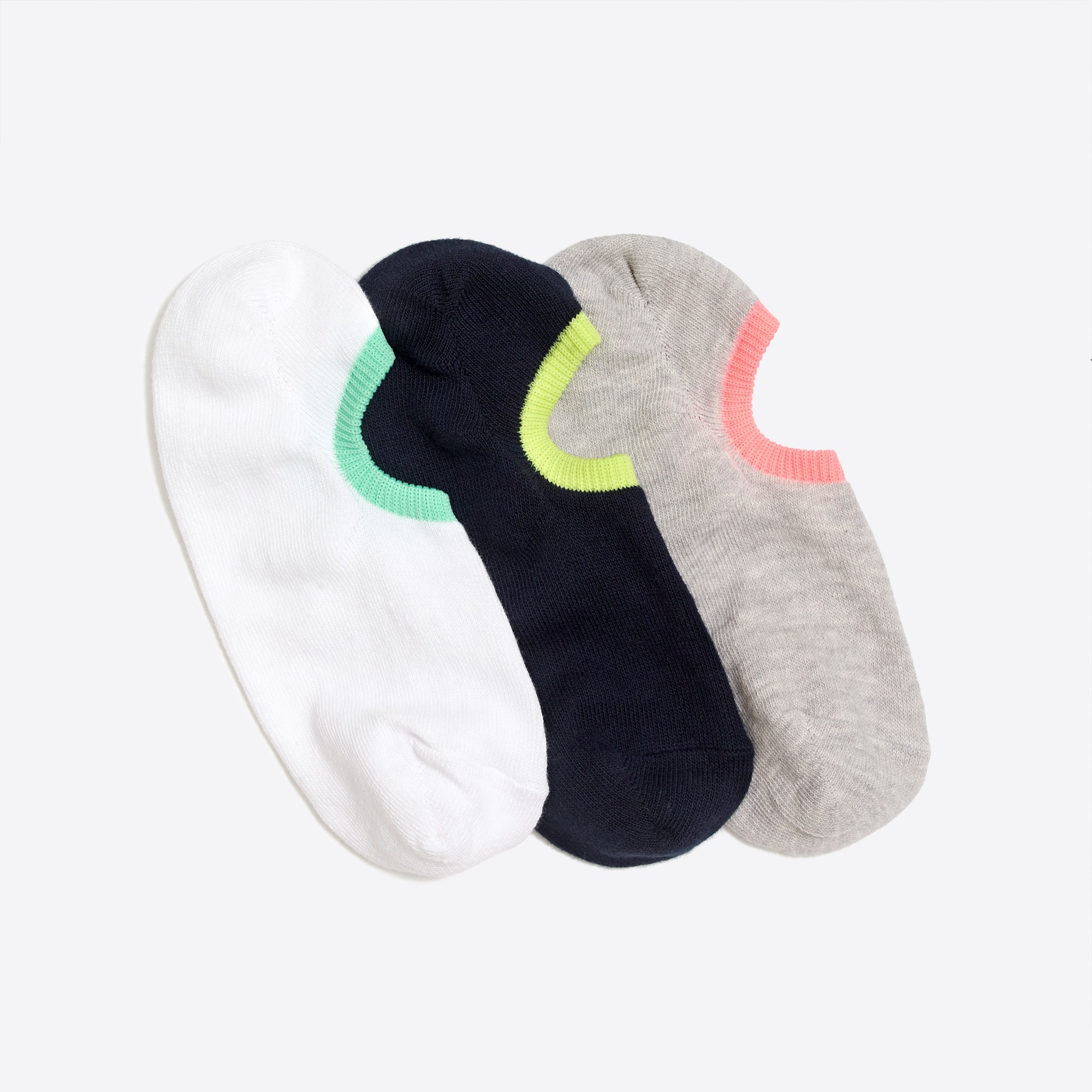 Neon no-show socks three-pack factoryboys the camp shop c