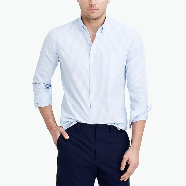 j.crew factory: tall slim washed shirt in end-on-end cotton
