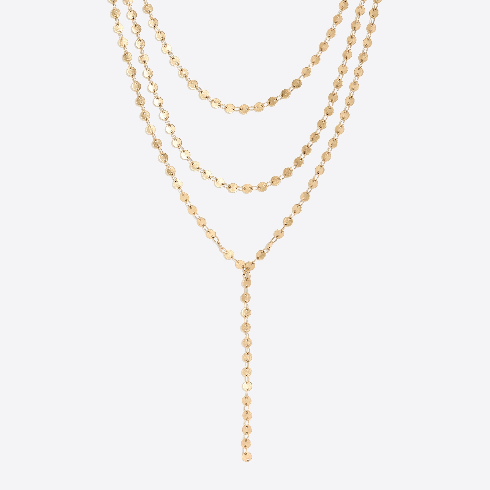 factory womens Golden sun layered Y-necklace