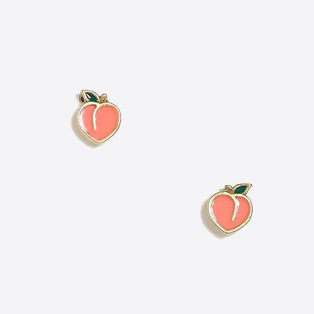 peach tacori gold and c earrings moonstone diamond rose