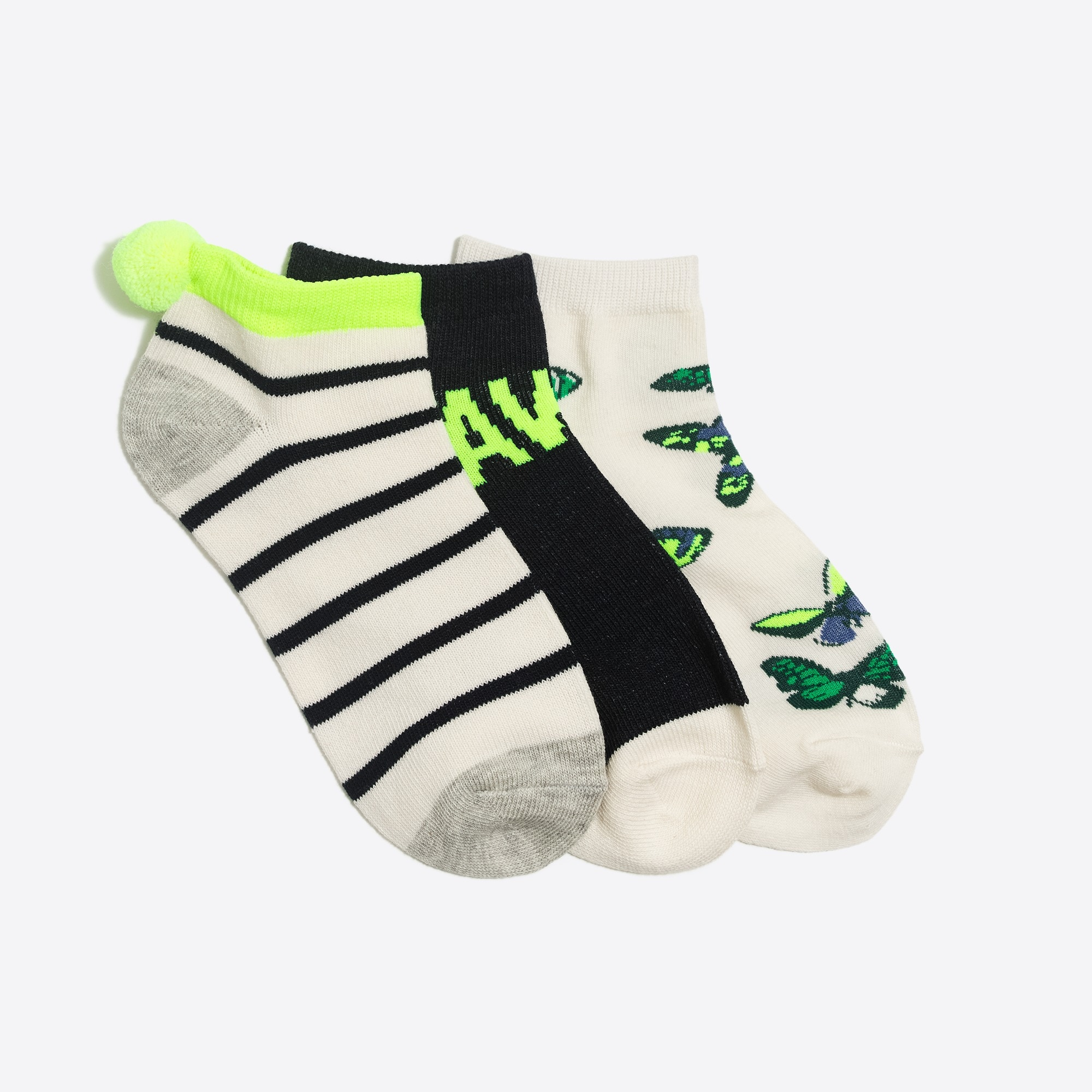 Girls' spring ankle sock three-pack