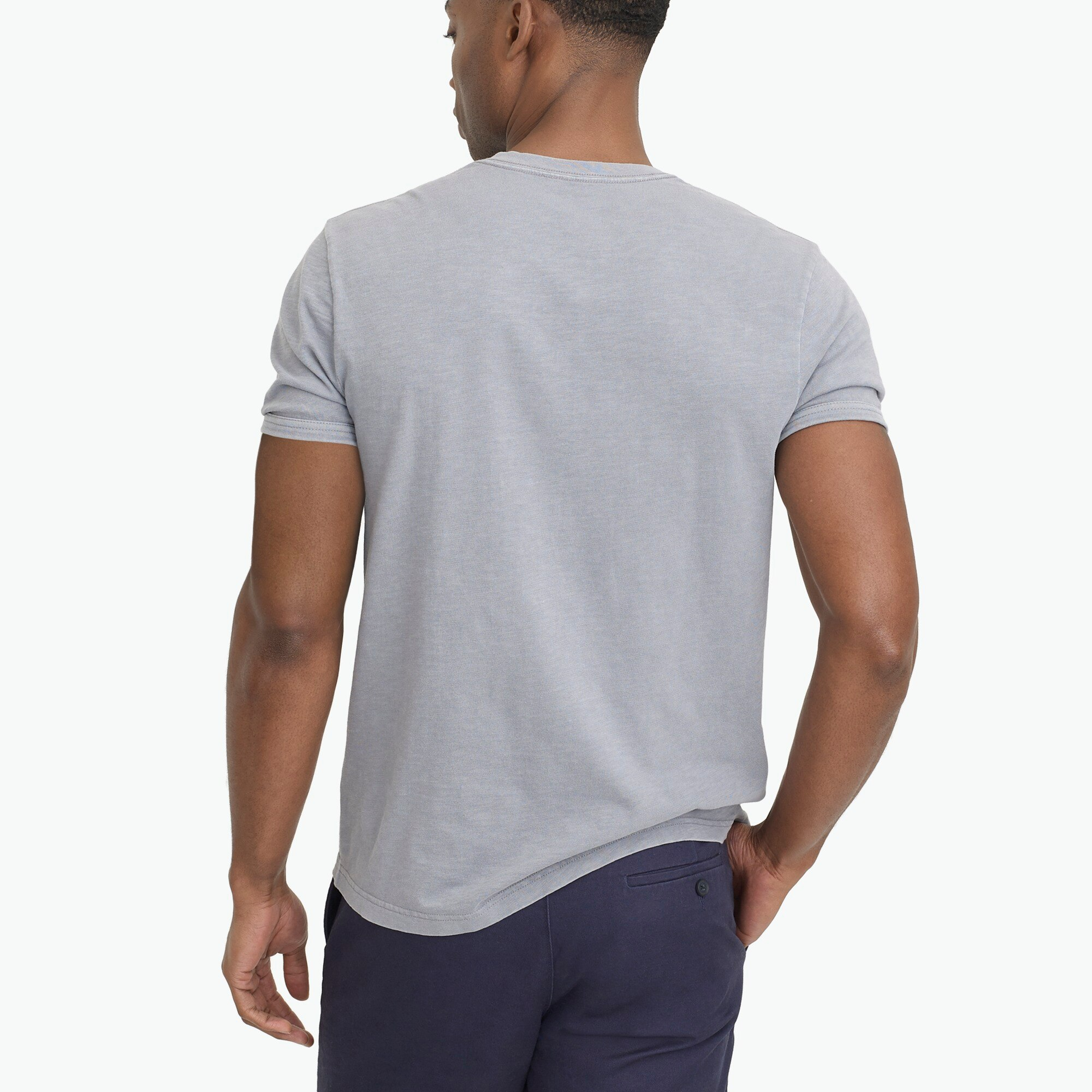 Image 3 for Short-sleeve slub cotton henley