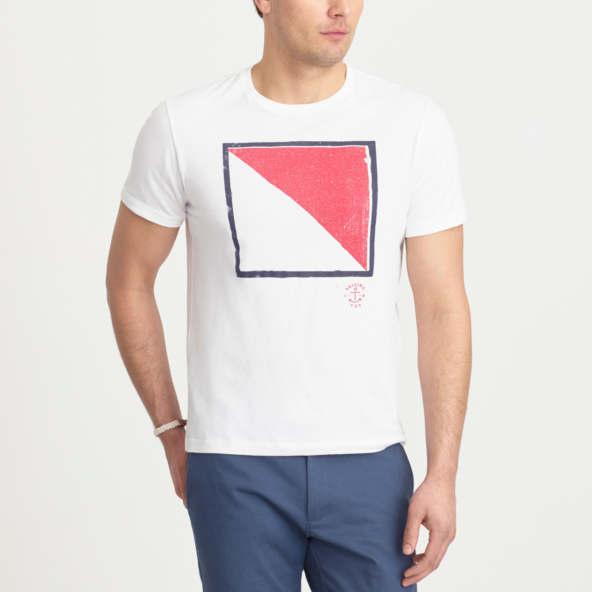 J.Crew Mercantile Broken-in nautical flag T-shirt factorymen t-shirts & henleys c