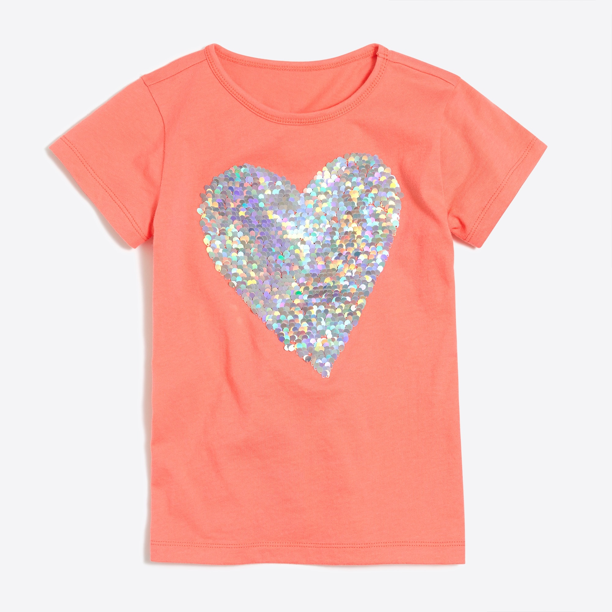 Girls' sequin heart keepsake T-shirt factorygirls shirts, t-shirts & tops c