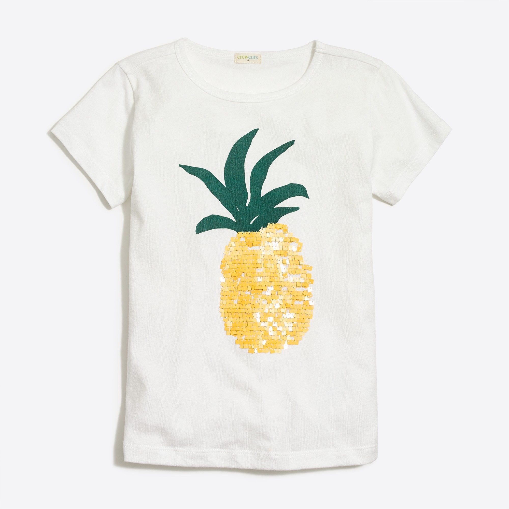 factory girls Girls' sequin pineapple graphic T-shirt