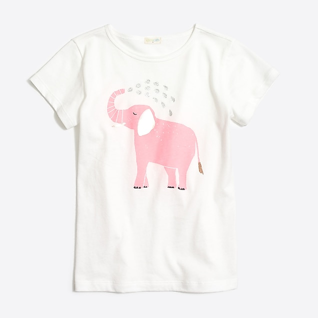 d7048fbe3 Girls  elephant shower graphic T-shirt   FactoryGirls Graphics