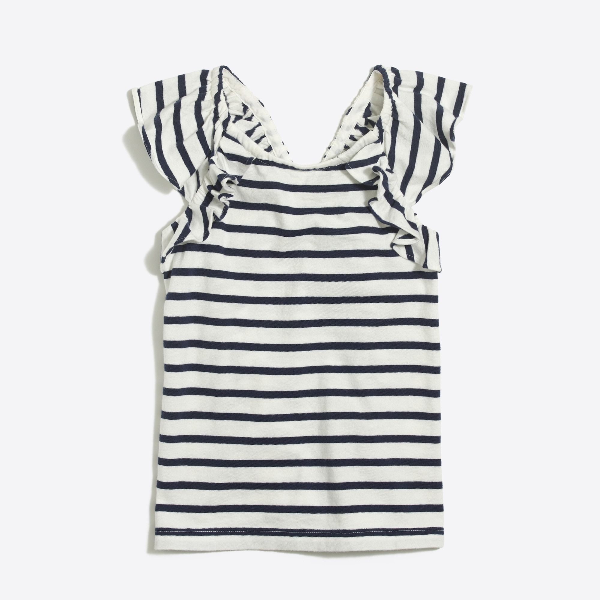 Image 2 for Striped ruffle tank top