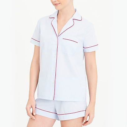 ac5809c80 factory womens Short-sleeve end-on-end pajama set