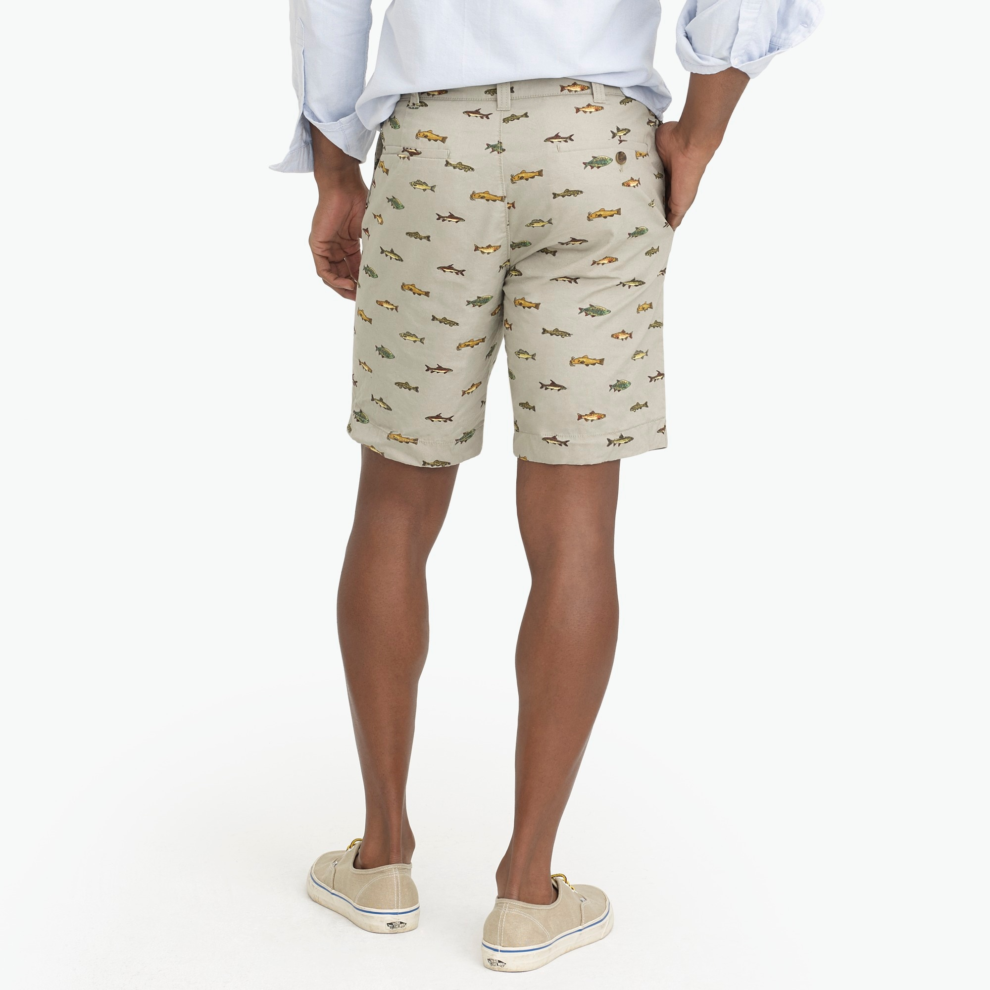 "Image 3 for 9"" Gramercy printed lightweight chino short"