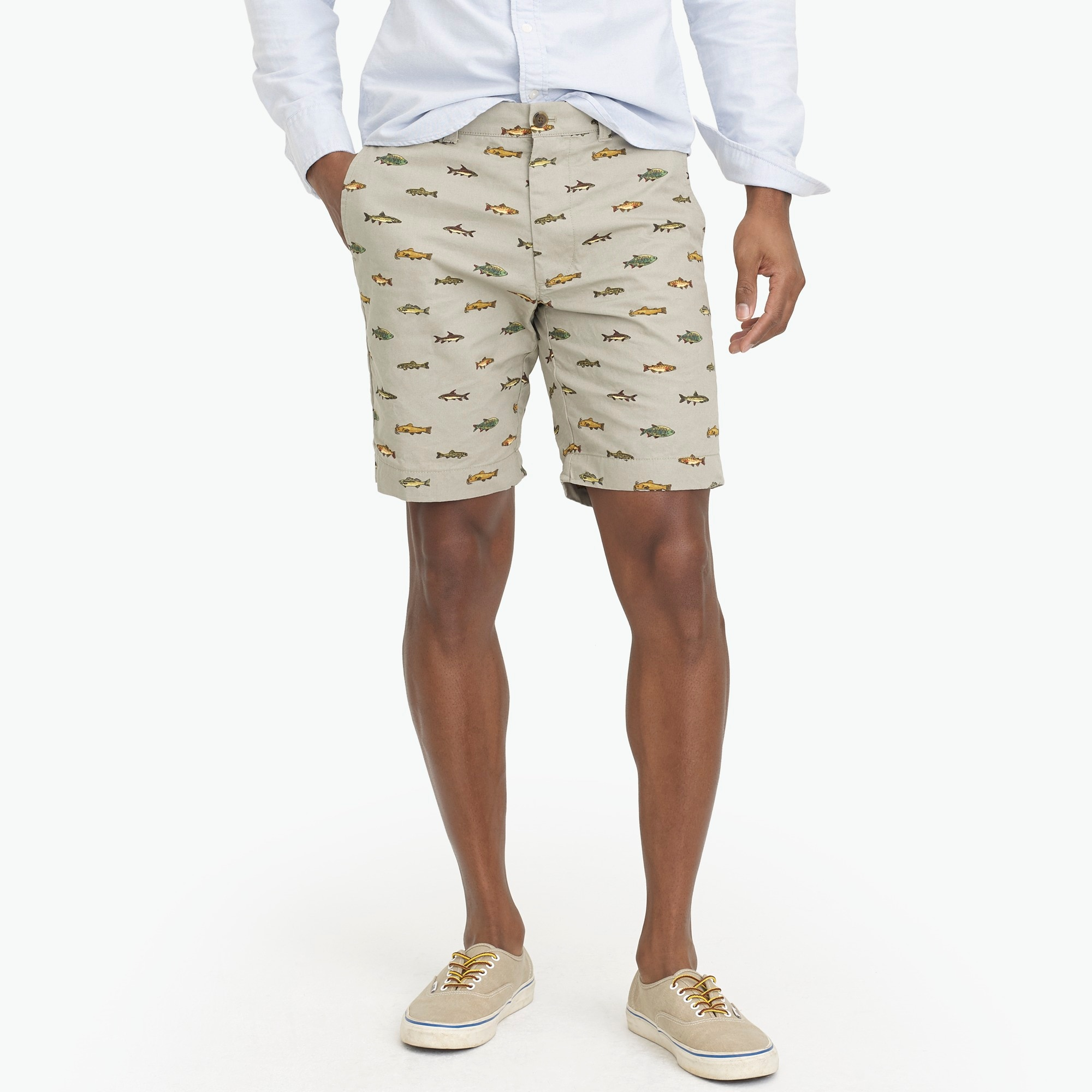 "9"" gramercy printed lightweight chino short : factorymen 9"""