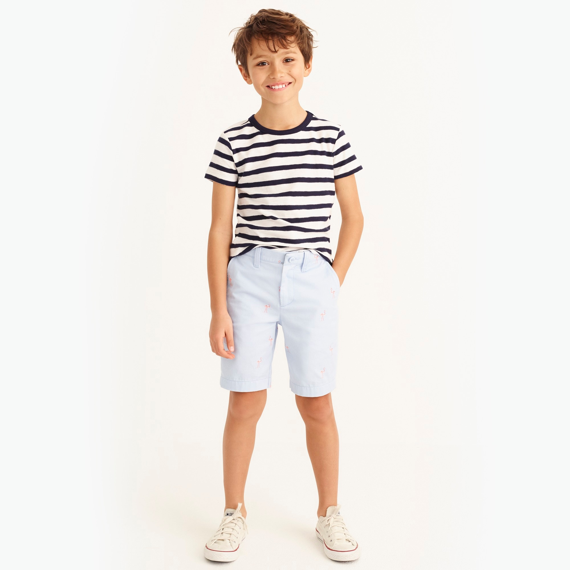 Boys' gramercy critter short in flamingos