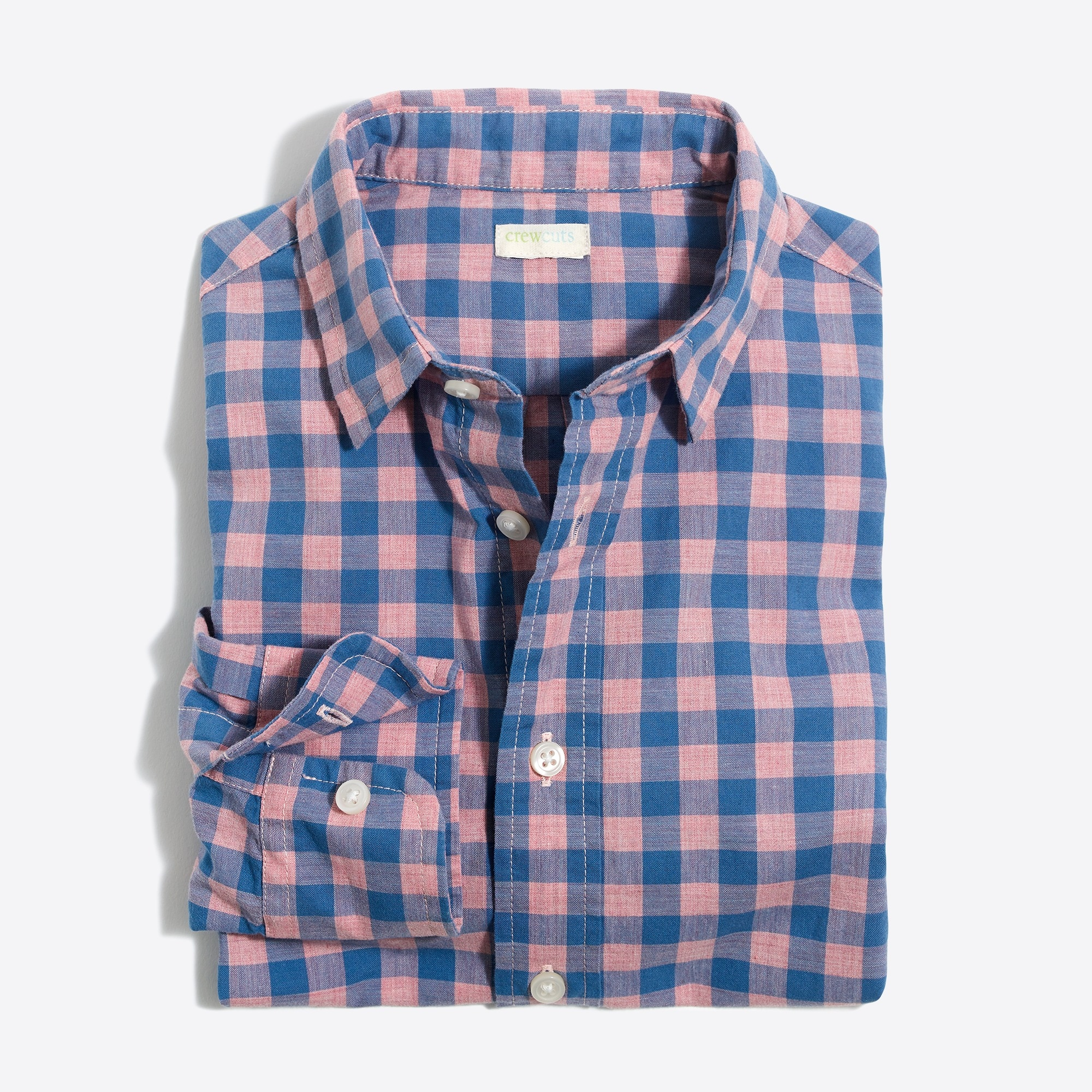 Image 1 for Boys' long-sleeve heathered washed shirt