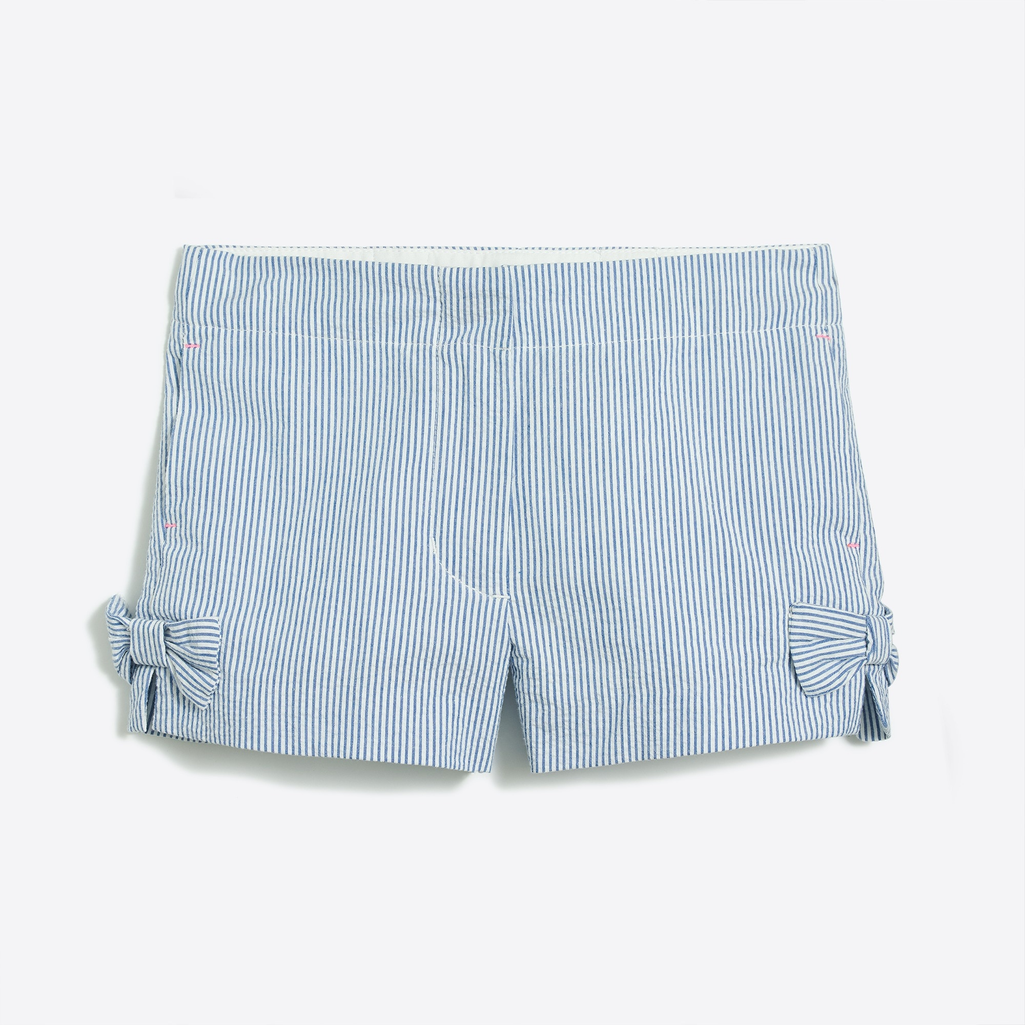 Girls' seersucker bow short factorygirls shorts & rompers c