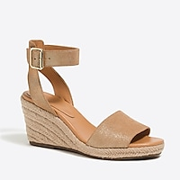 Image 1 for Metallic suede espadrille wedges