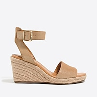 Image 3 for Metallic suede espadrille wedges