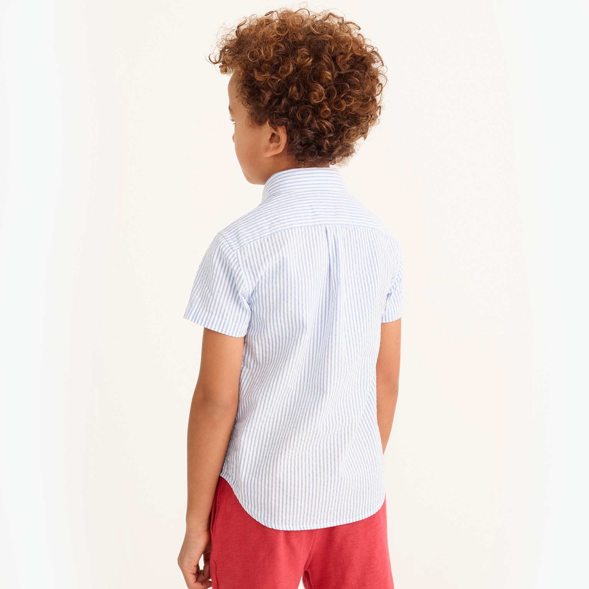 Image 2 for Boys' short-sleeve shirt in seersucker