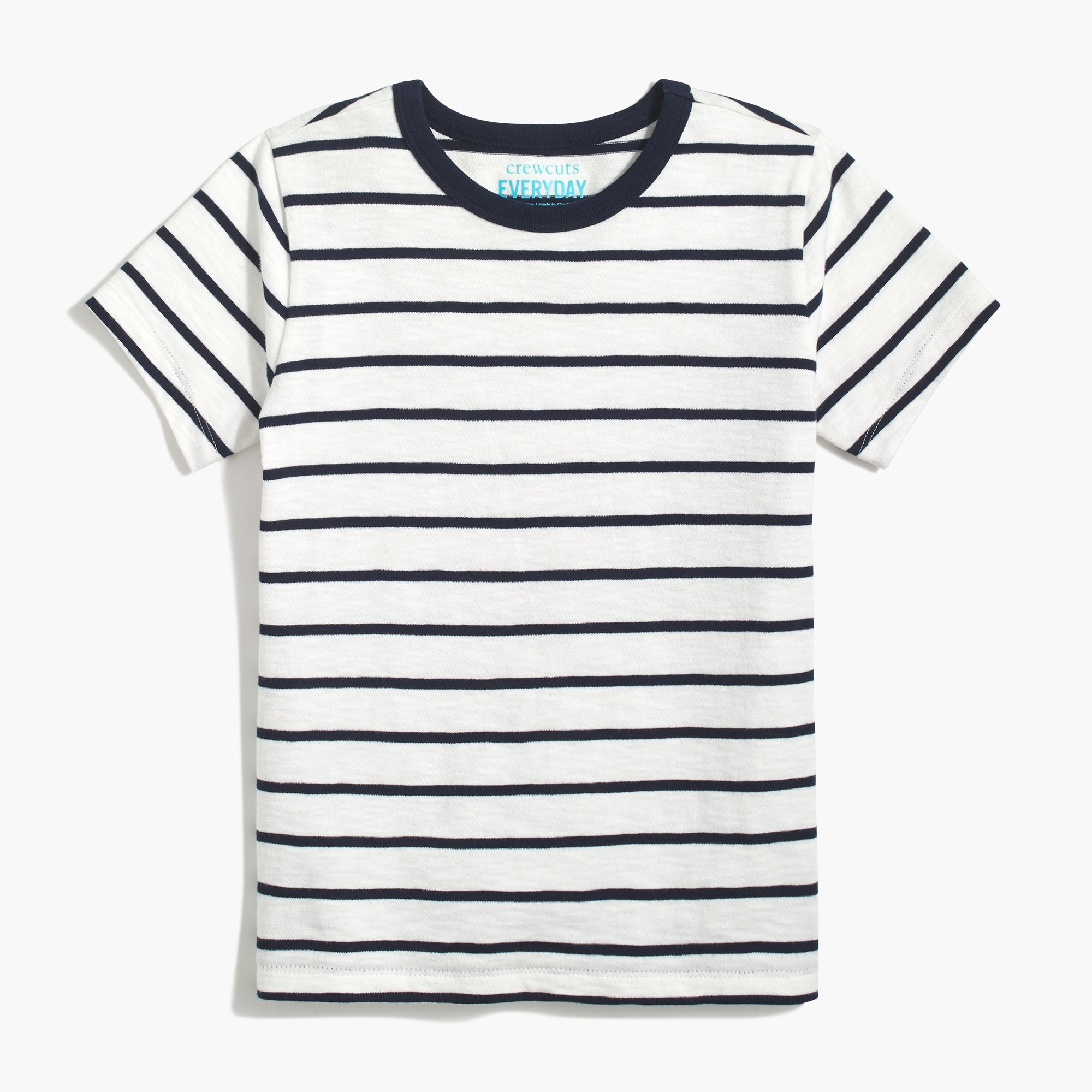 Boys' short-sleeve t-shirt in classic stripe factoryboys knits & t-shirts c