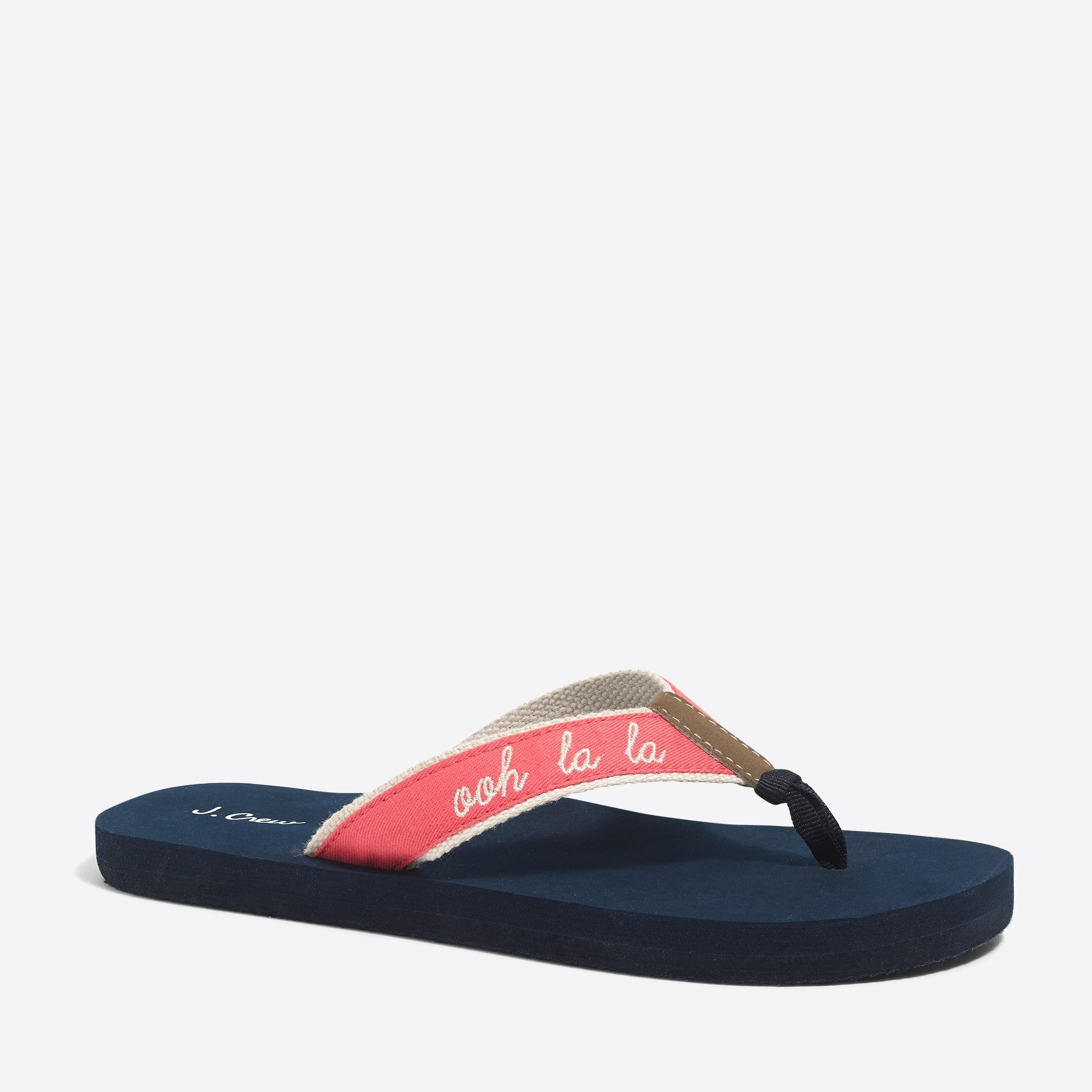 j.crew factory: embroidered flip-flops