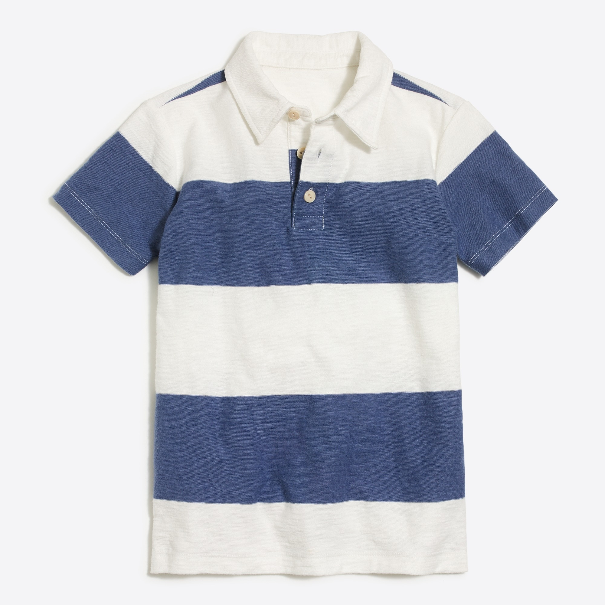 Boys' short-sleeve rugby-stripe polo shirt factoryboys knits & t-shirts c