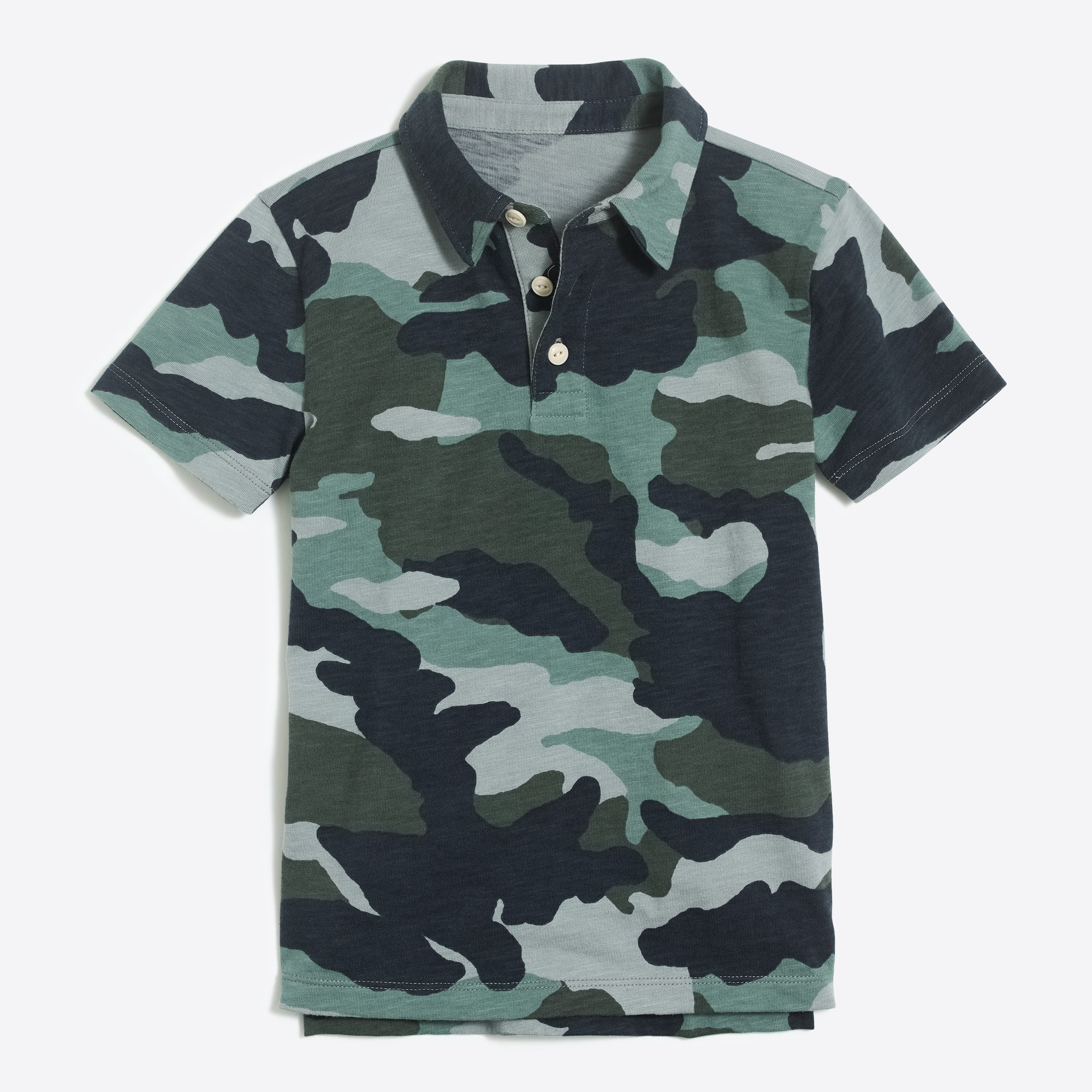 Boys' short-sleeve camo print polo shirt factoryboys the camp shop c