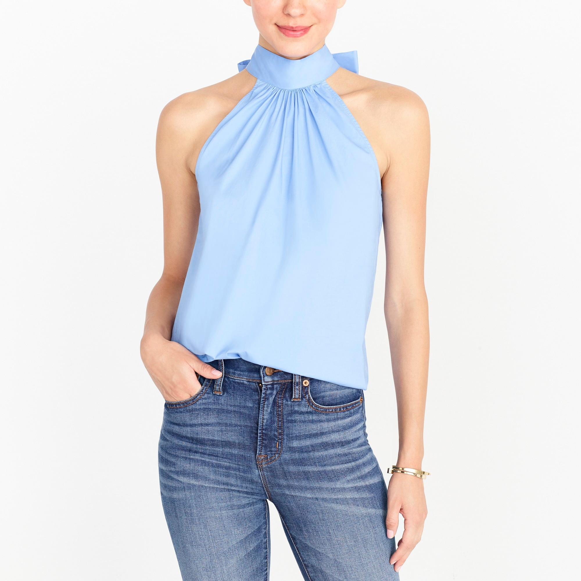tie-neck tank top : factorywomen blouses