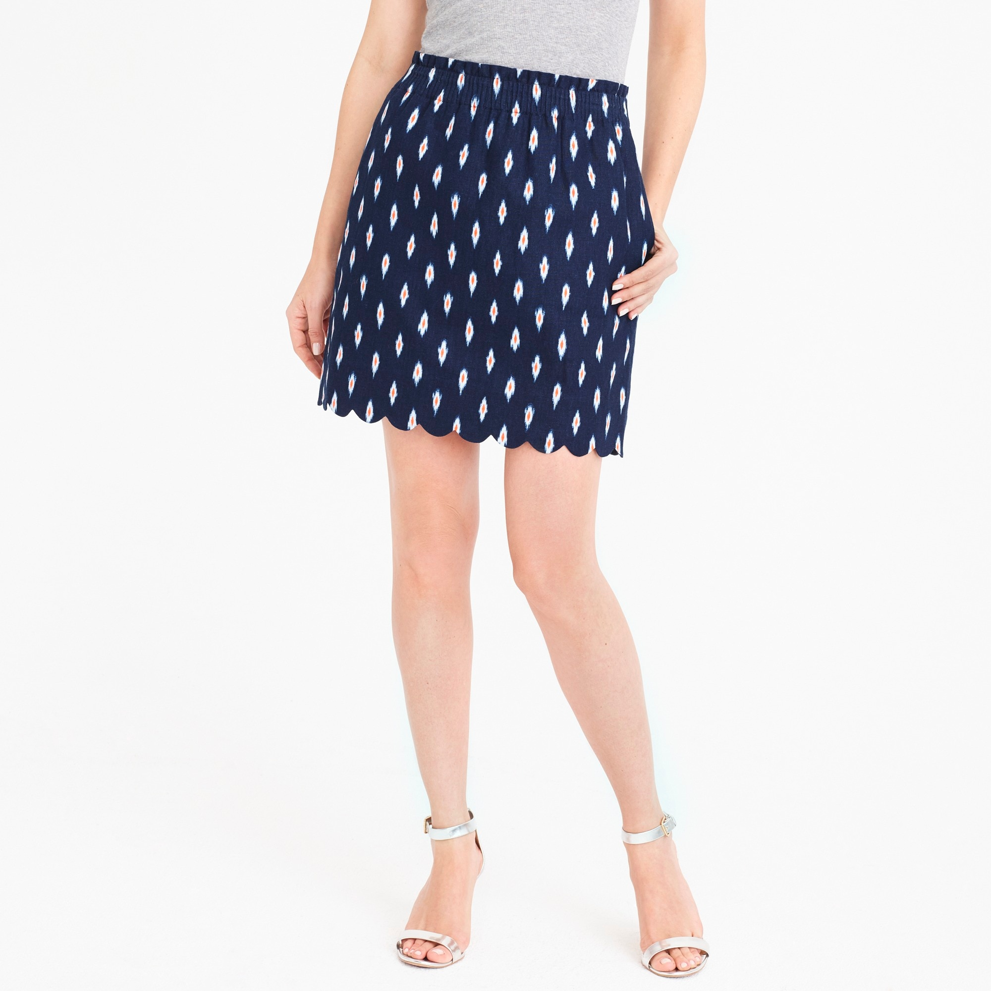 printed scalloped sidewalk skirt : factorywomen mini