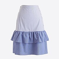 Image 2 for Cocktail stripe tiered ruffle midi skirt