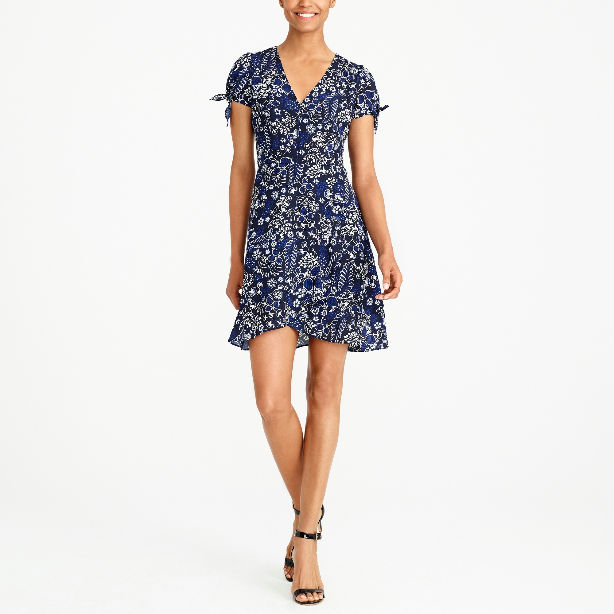 Image 1 for Printed faux-wrap dress