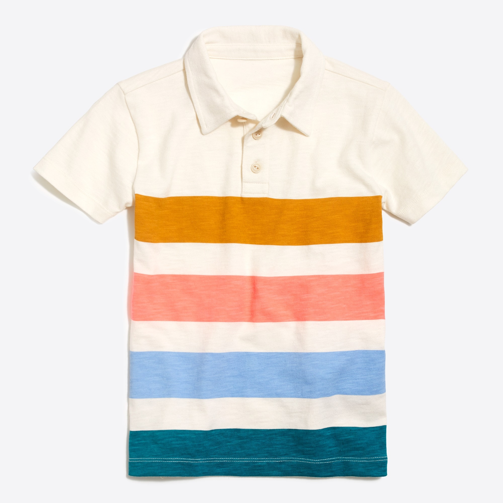f50886edef J.Crew Factory: Boys' short-sleeve broad stripe polo shirt