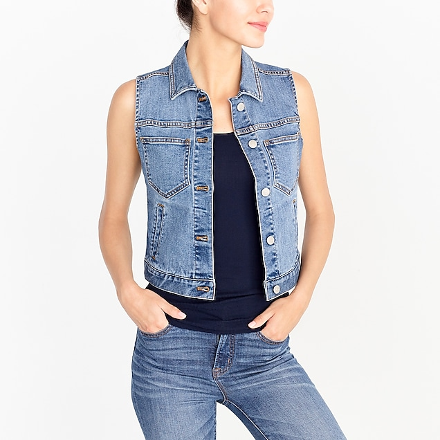 j.crew factory: denim vest