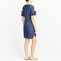 Image 3 for Tie-sleeve dress in denim