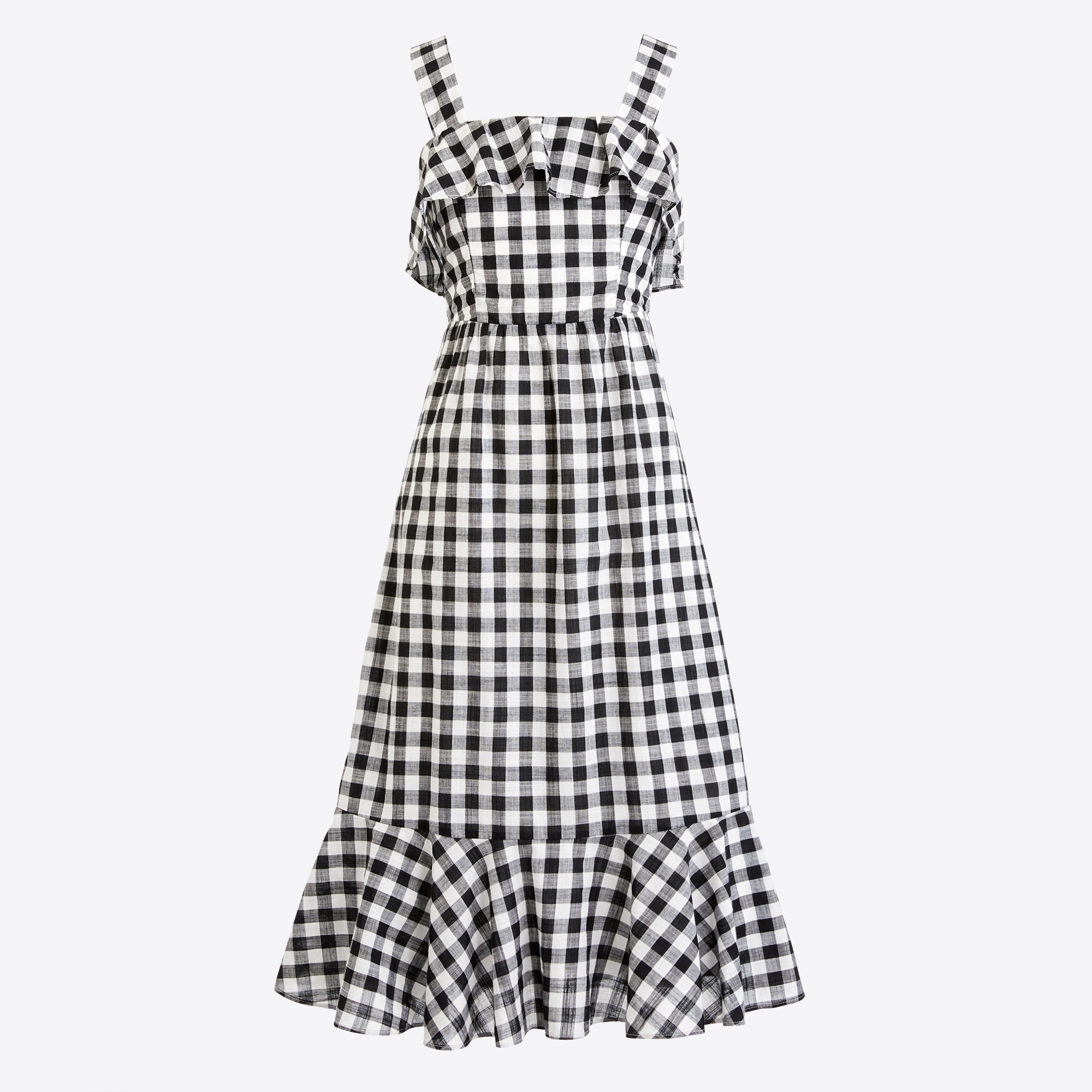 Midi dress in gingham