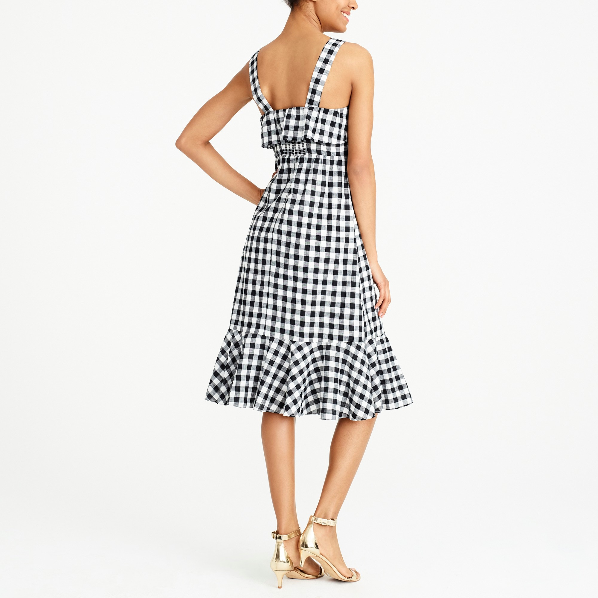 Image 3 for Midi dress in gingham