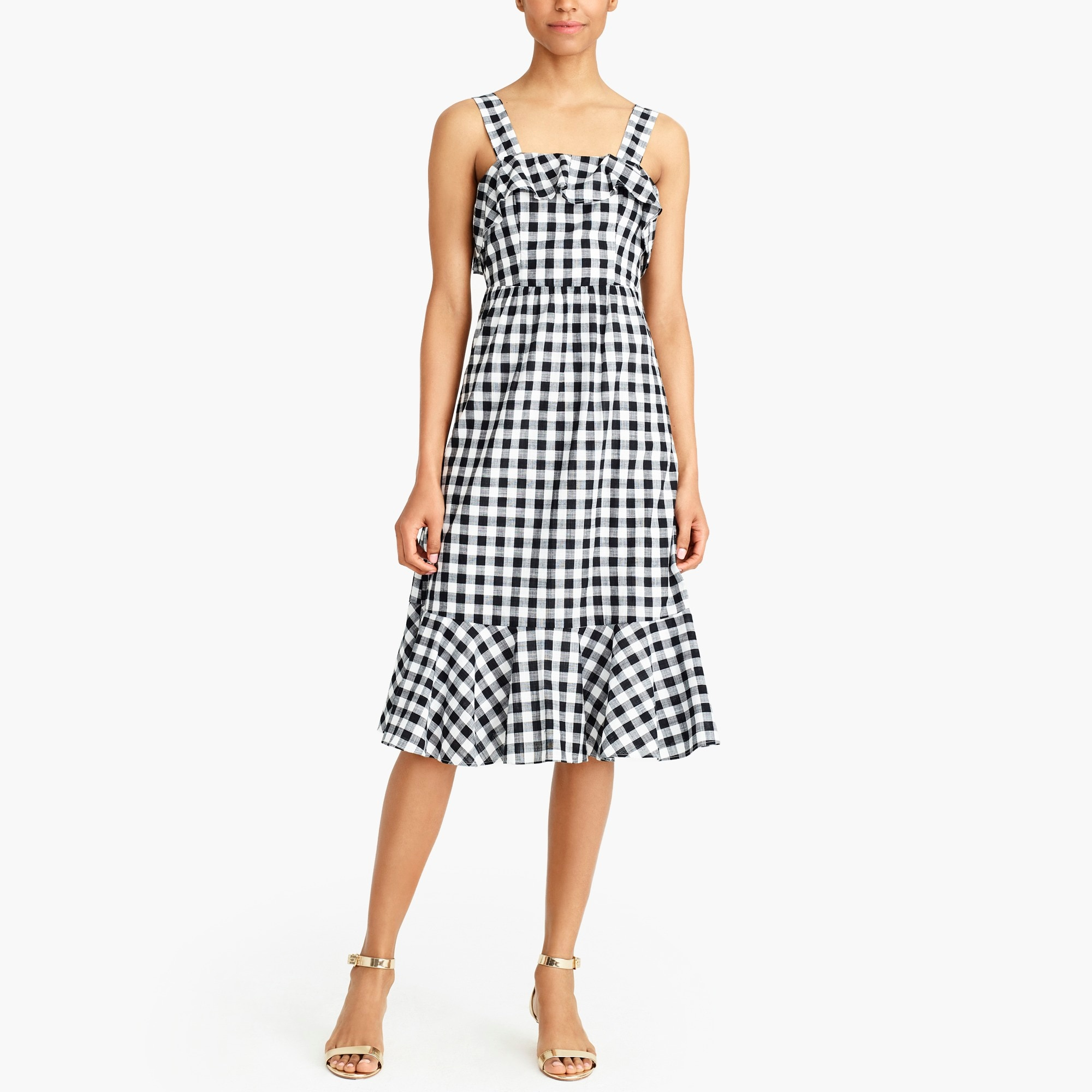 midi dress in gingham : factorywomen casual dresses