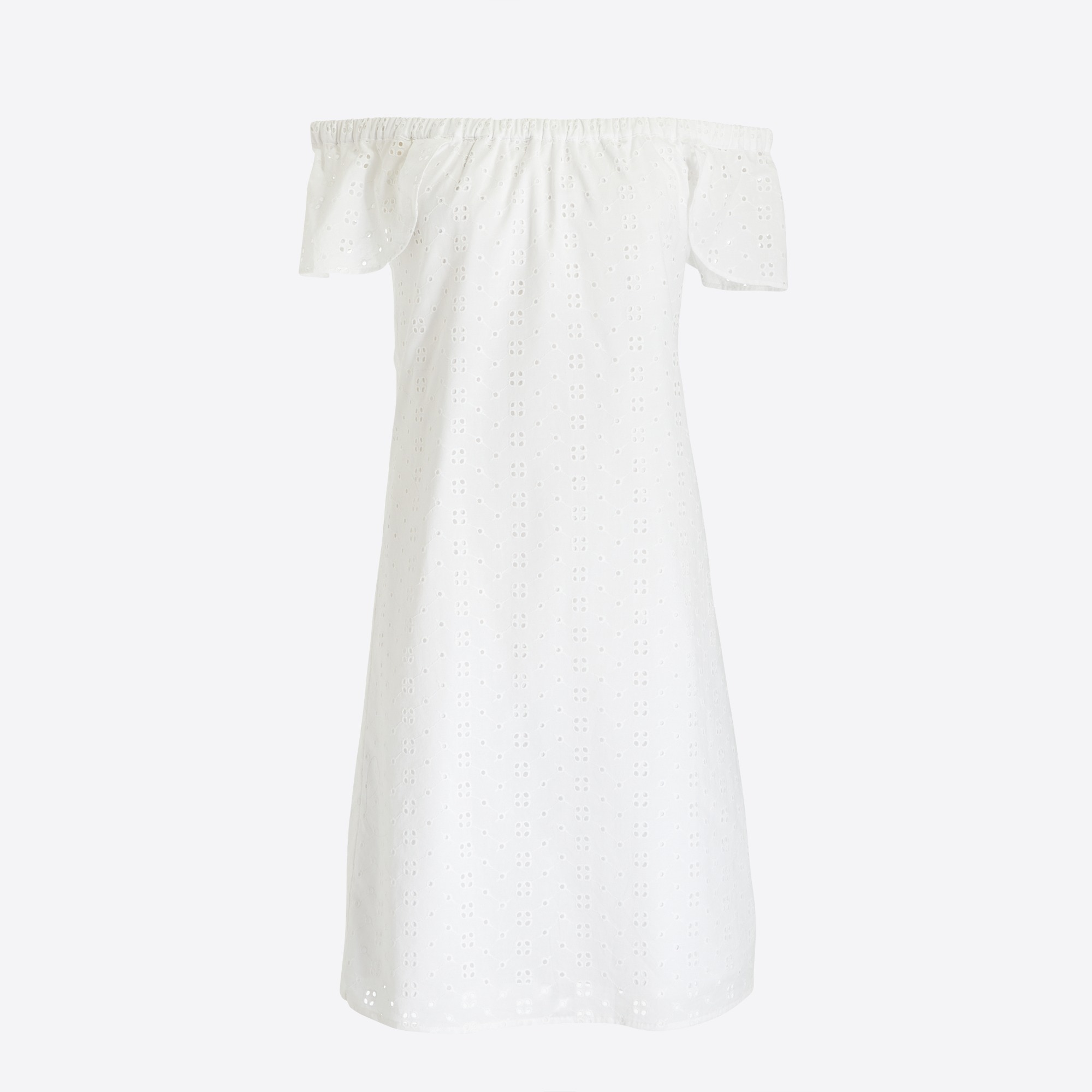 Image 2 for Eyelet off-the-shoulder dress