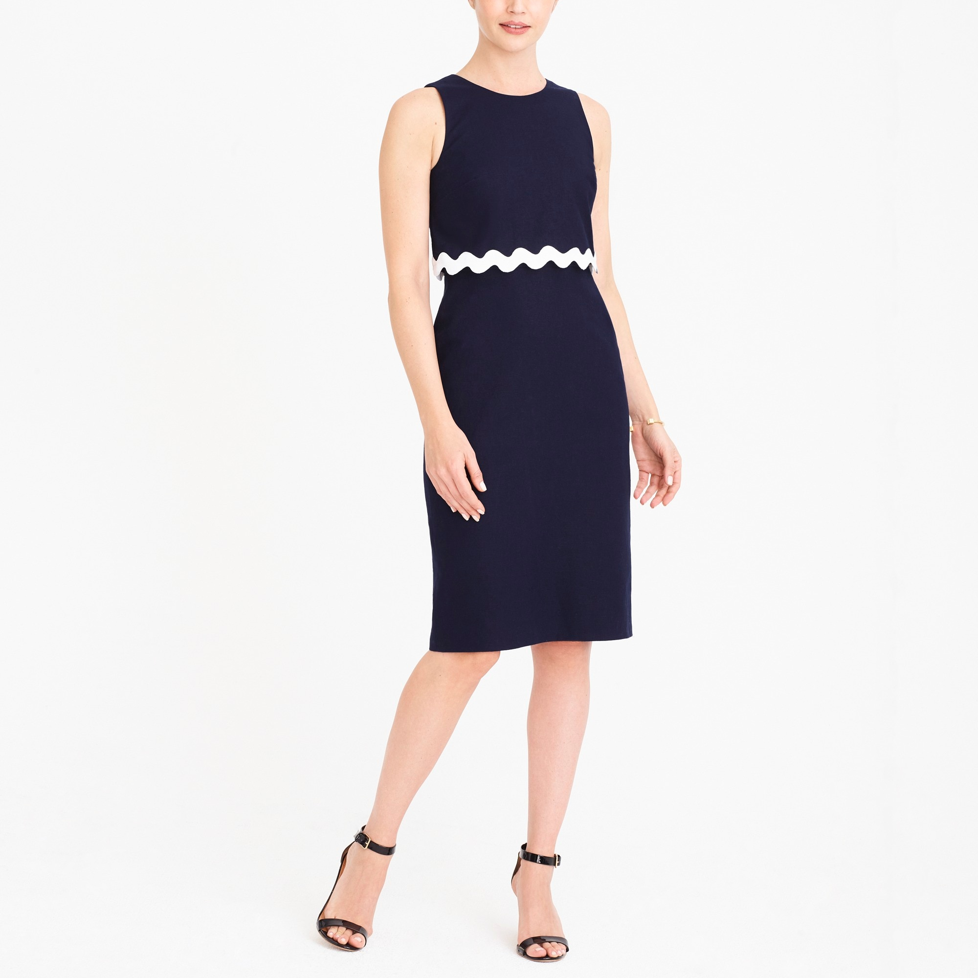 Rickrack trim dress