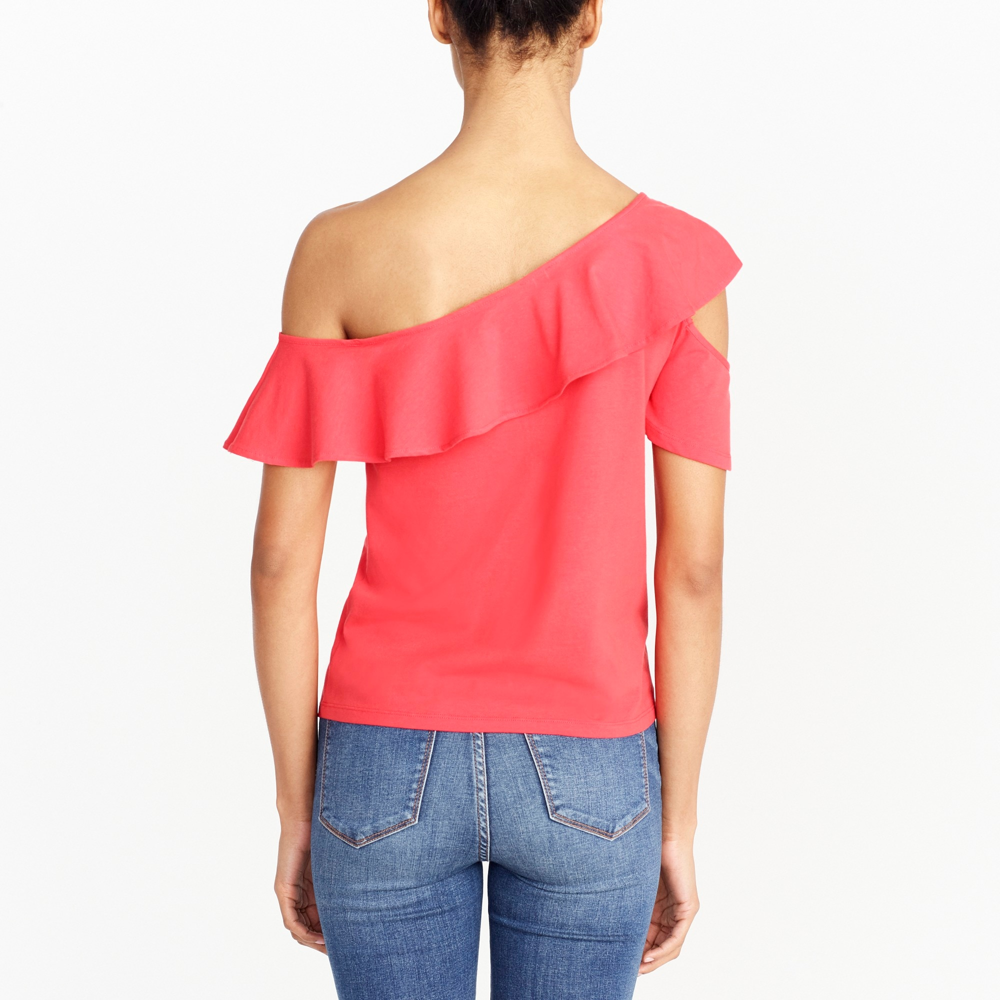 Image 2 for One-sleeve off-the-shoulder top