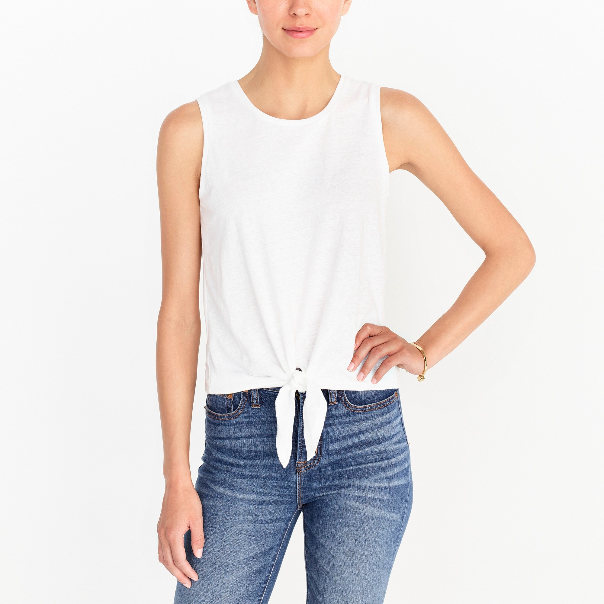 factory womens Tie-front tank top