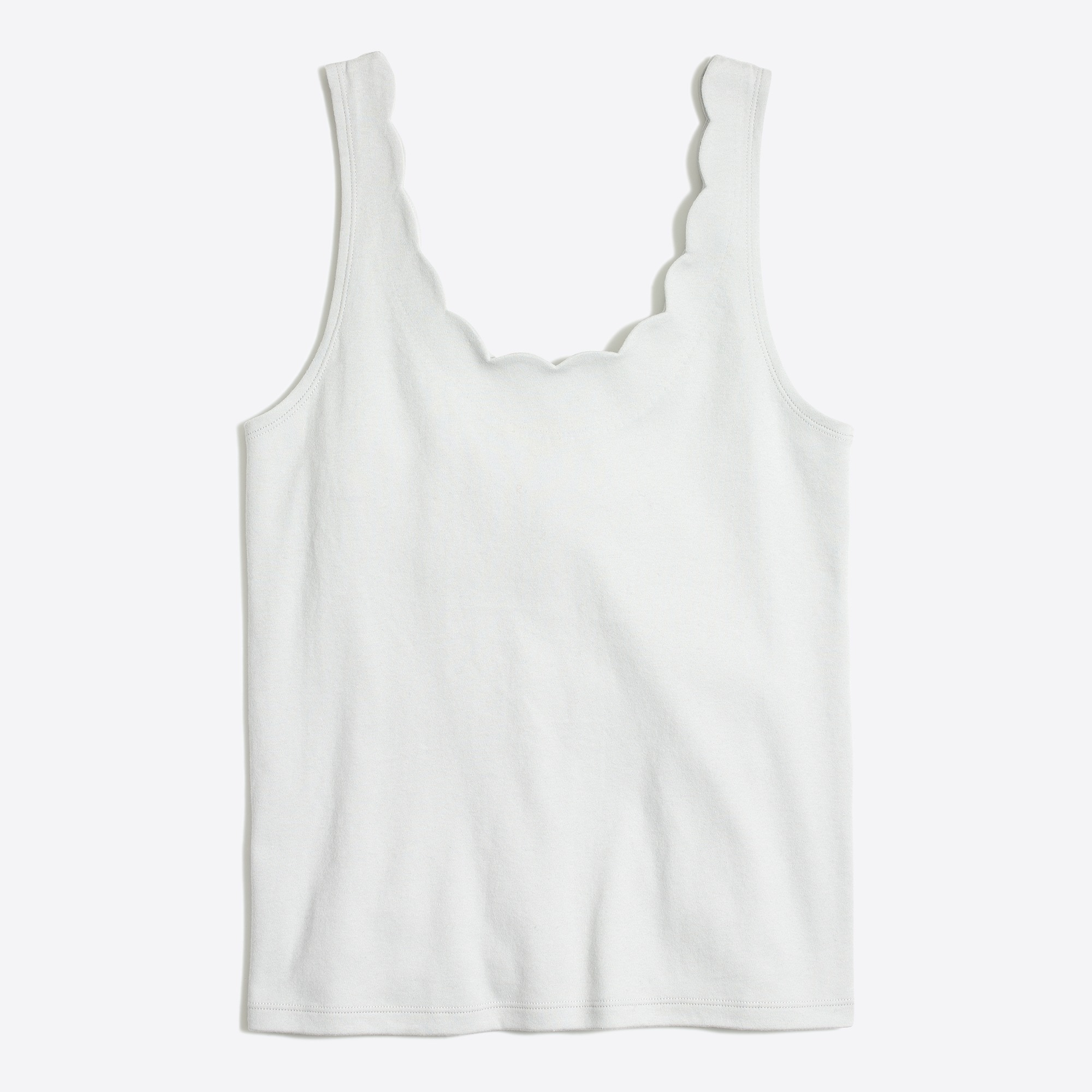 Scalloped tank tops factorywomen new arrivals c