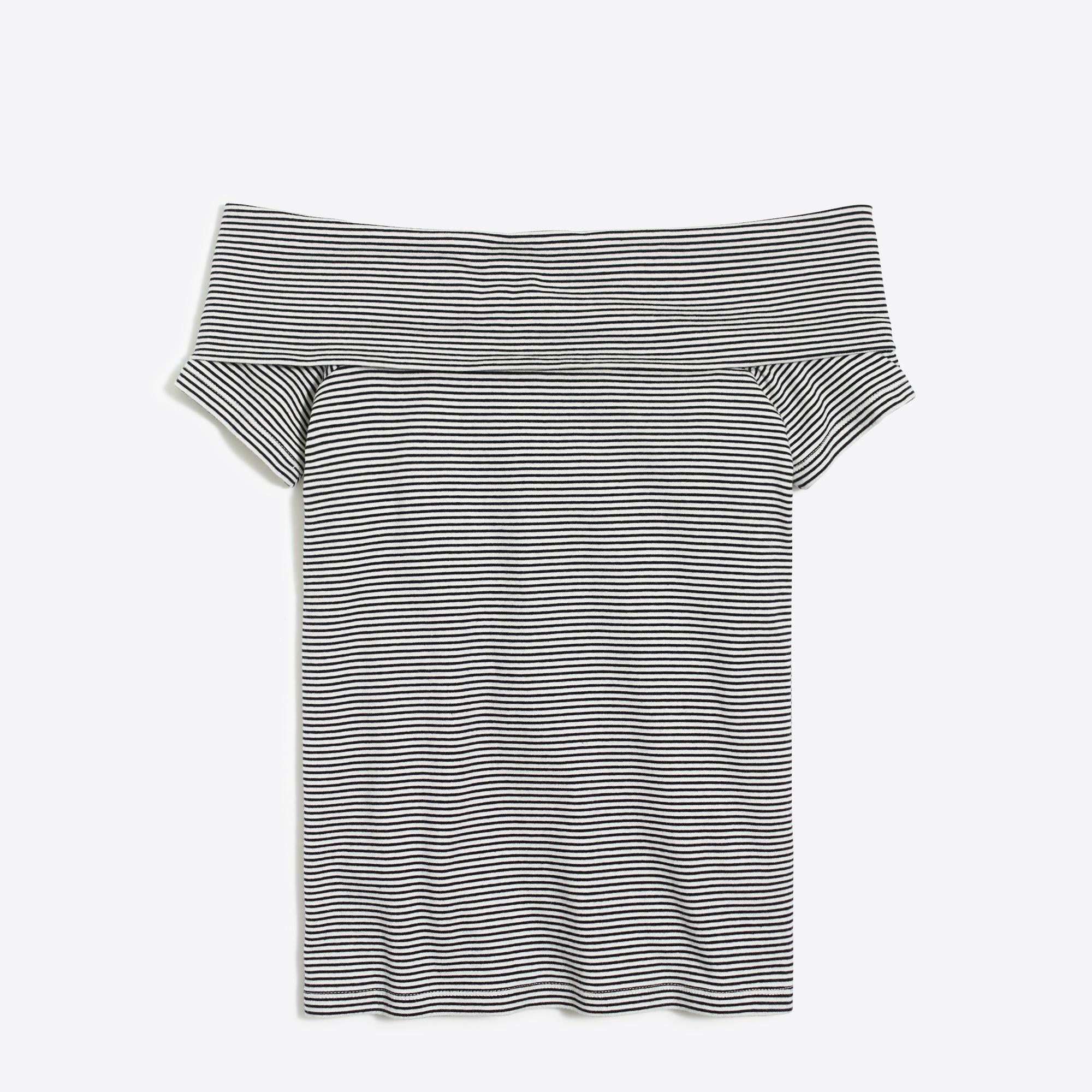 Image 2 for Striped off-the-shoulder T-shirt