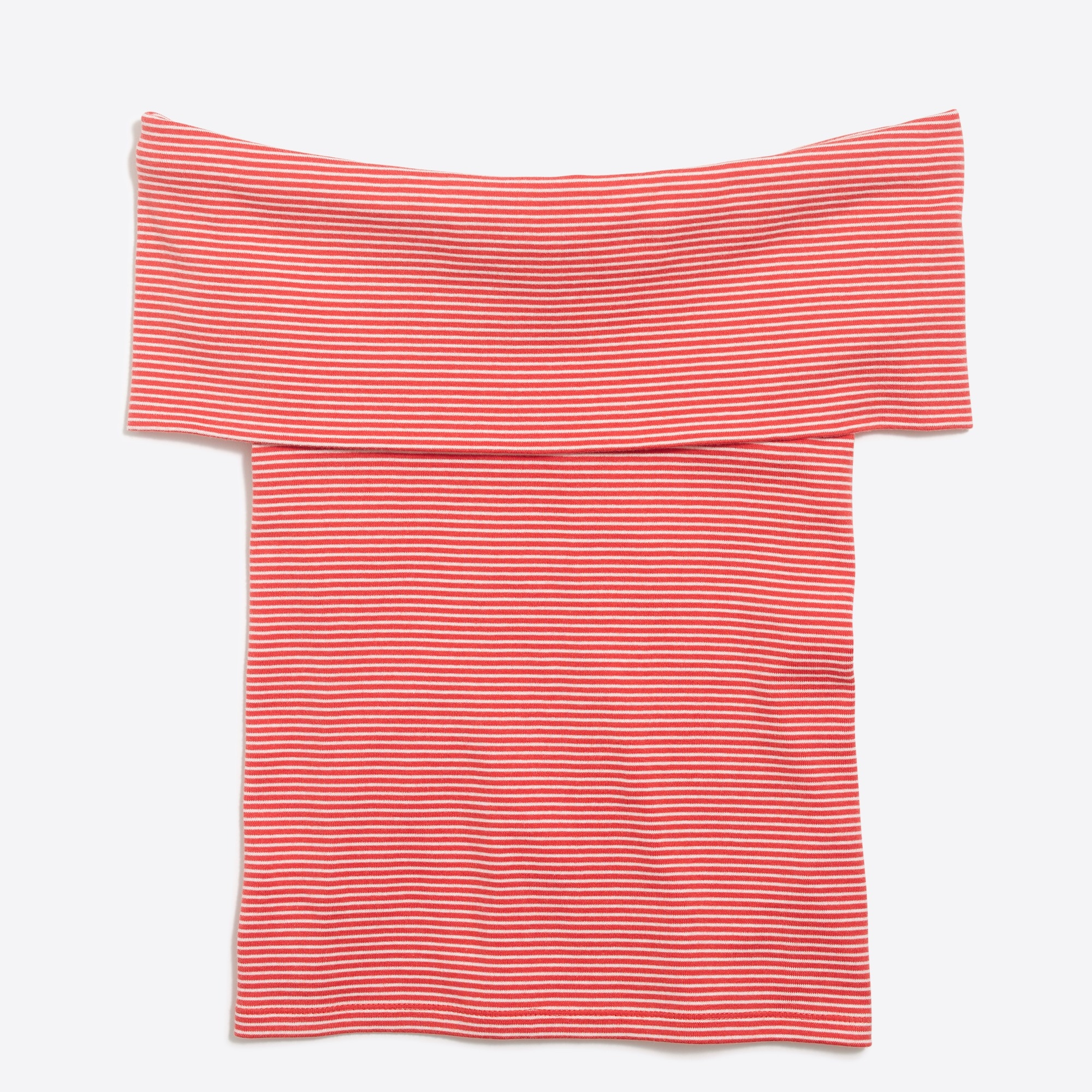 Striped off-the-shoulder T-shirt factorywomen new arrivals c