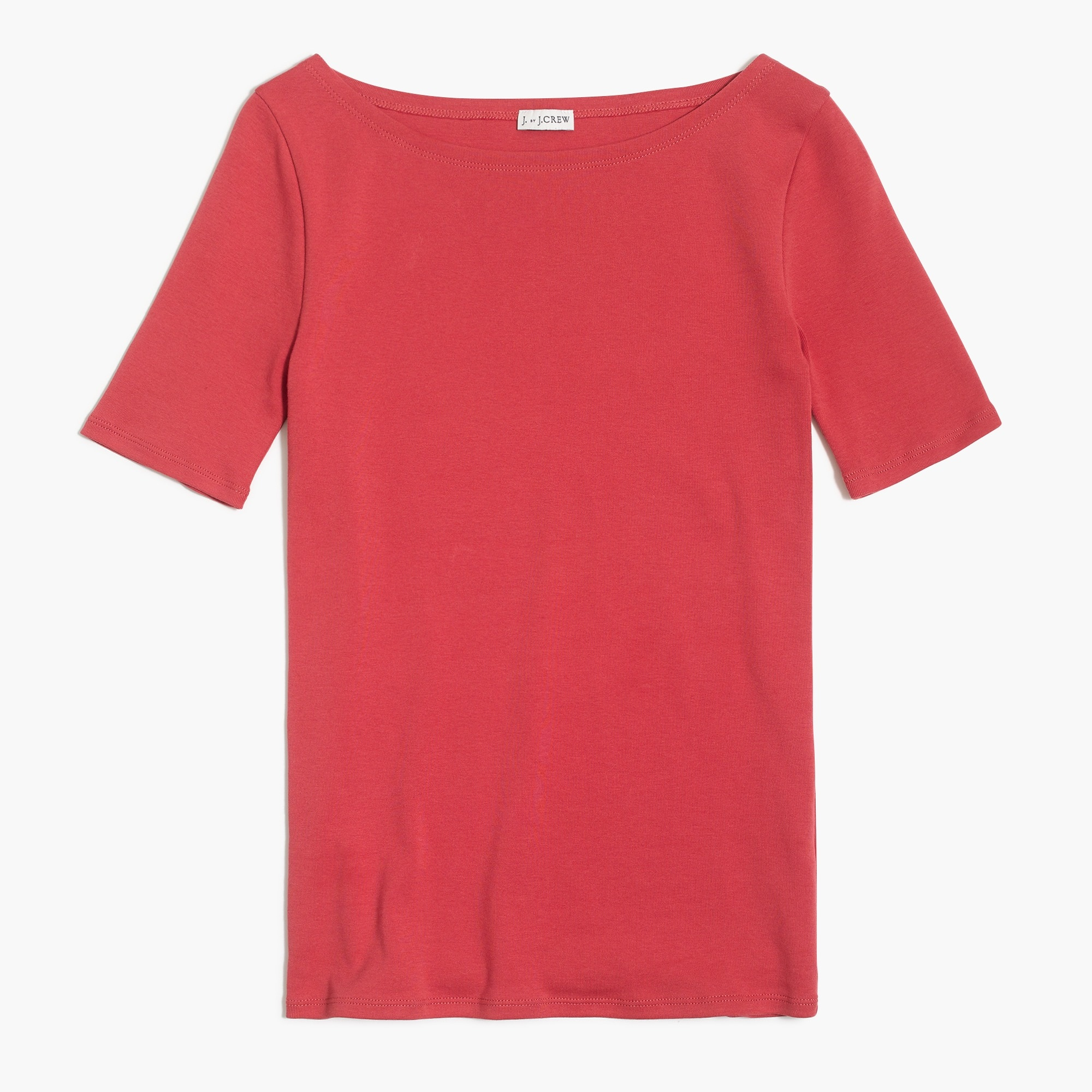Perfect-fit open-neck T-shirt