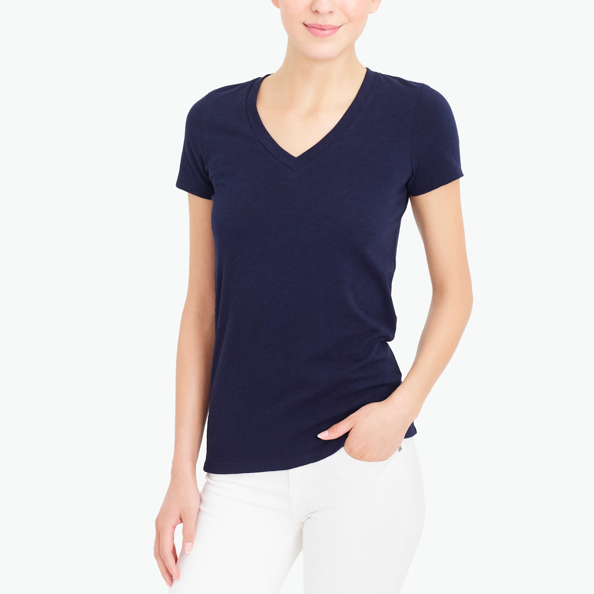 factory womens V-neck studio T-shirt