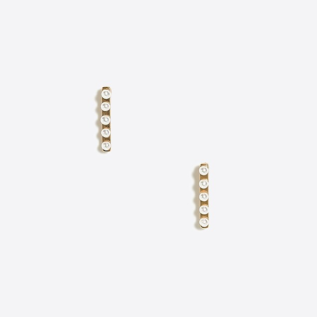 j.crew factory: pearl bar earrings