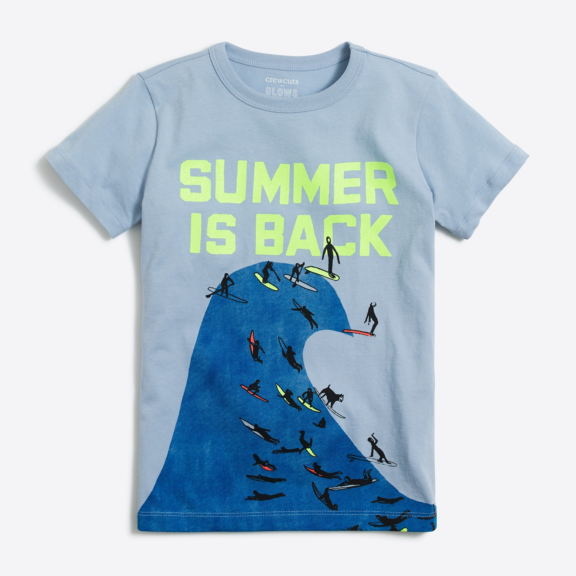 Boys' short-sleeve summer wave graphic T-shirt factoryboys the camp shop c