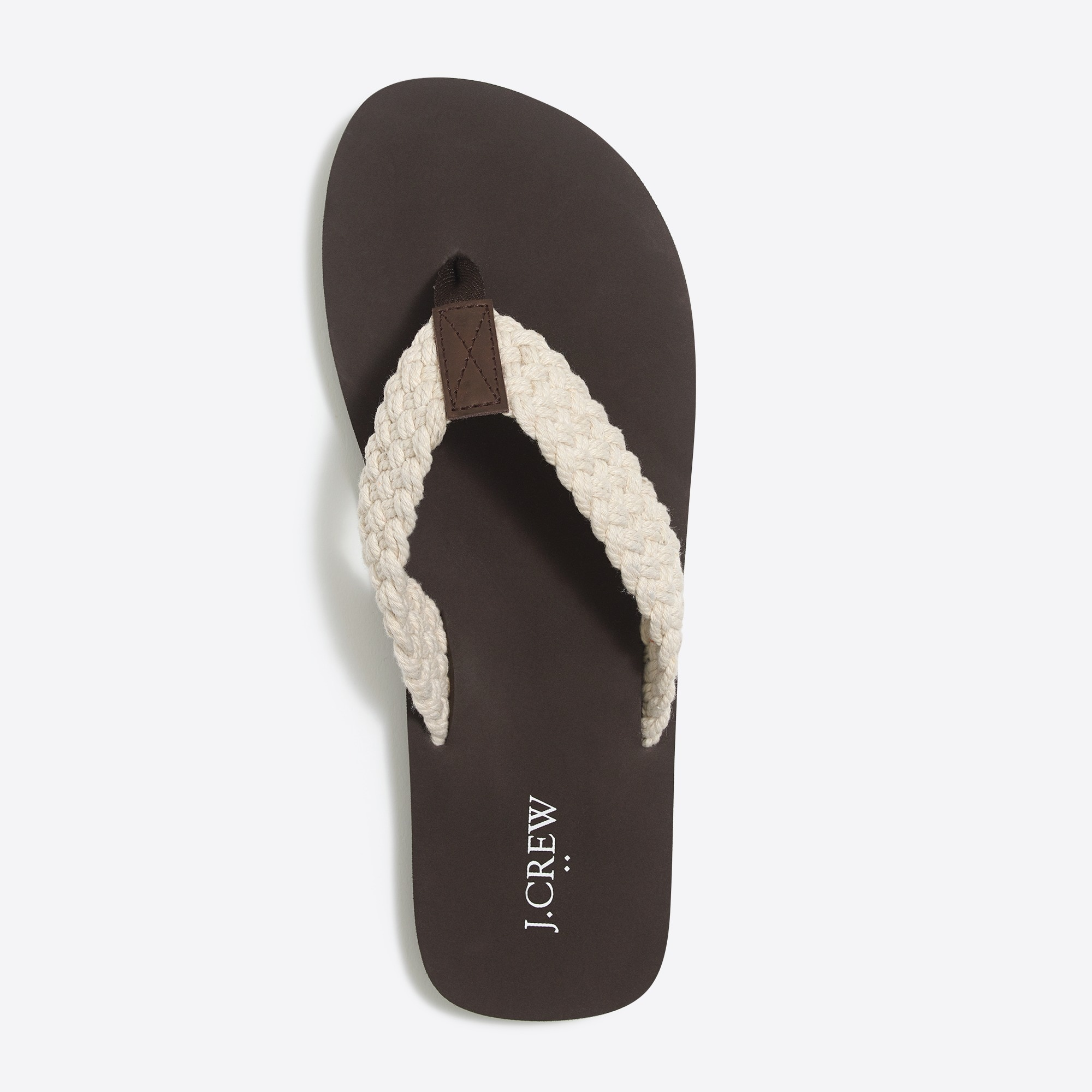 Cotton braided flip-flops