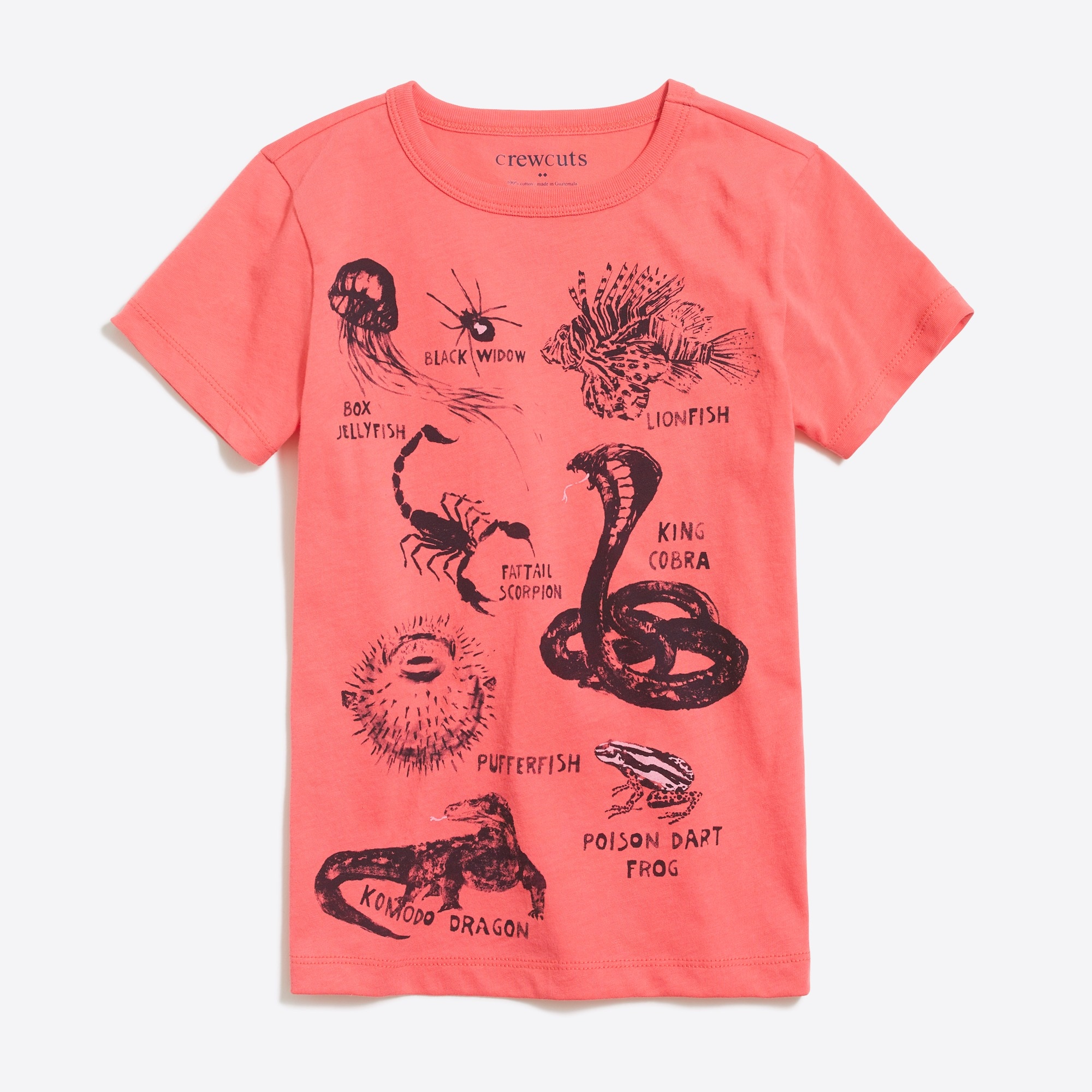 Image 1 for Boys' short-sleeve creatures graphic T-shirt