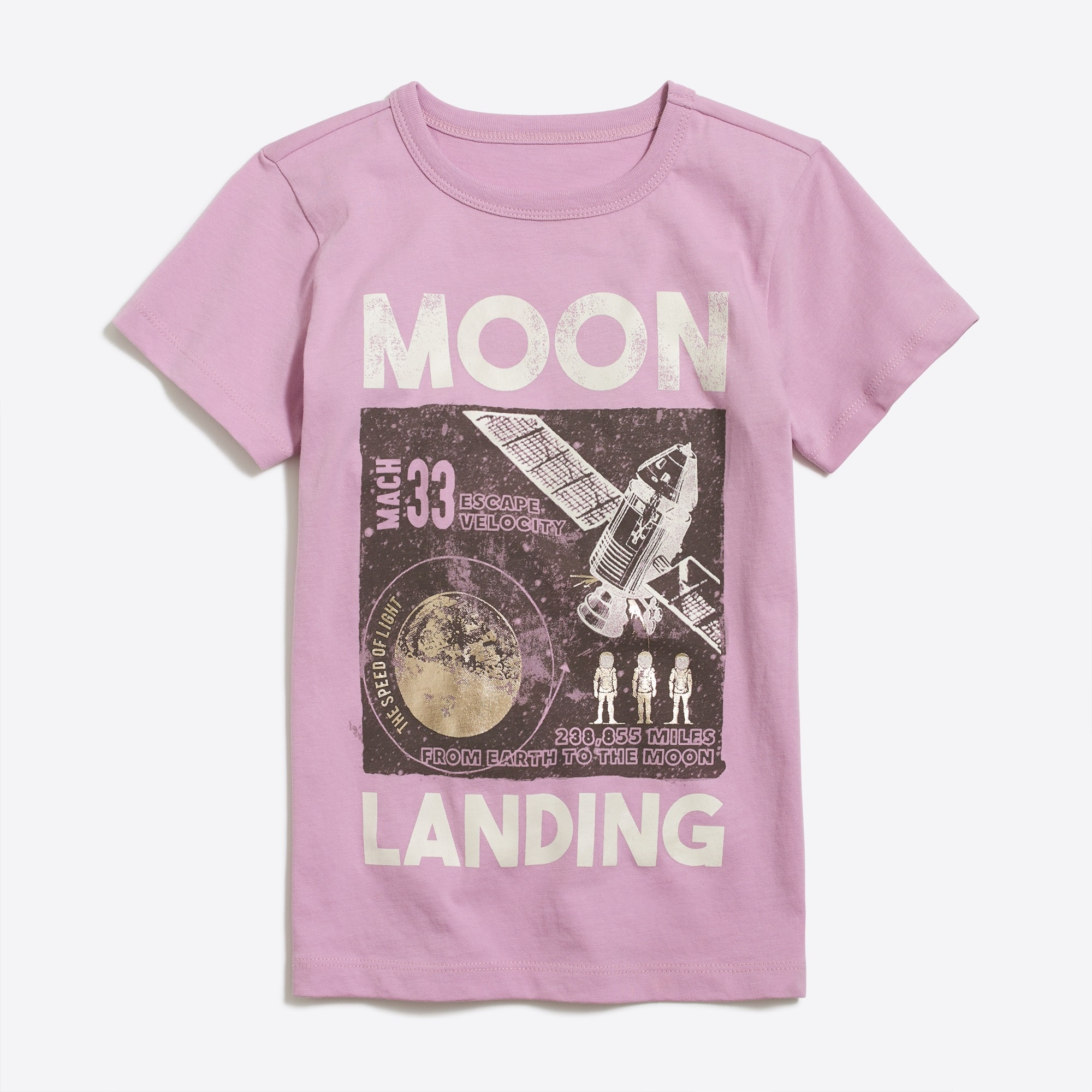 Boys' short-sleeve glow-in-the-dark moon landing graphic T-shirt factoryboys the camp shop c