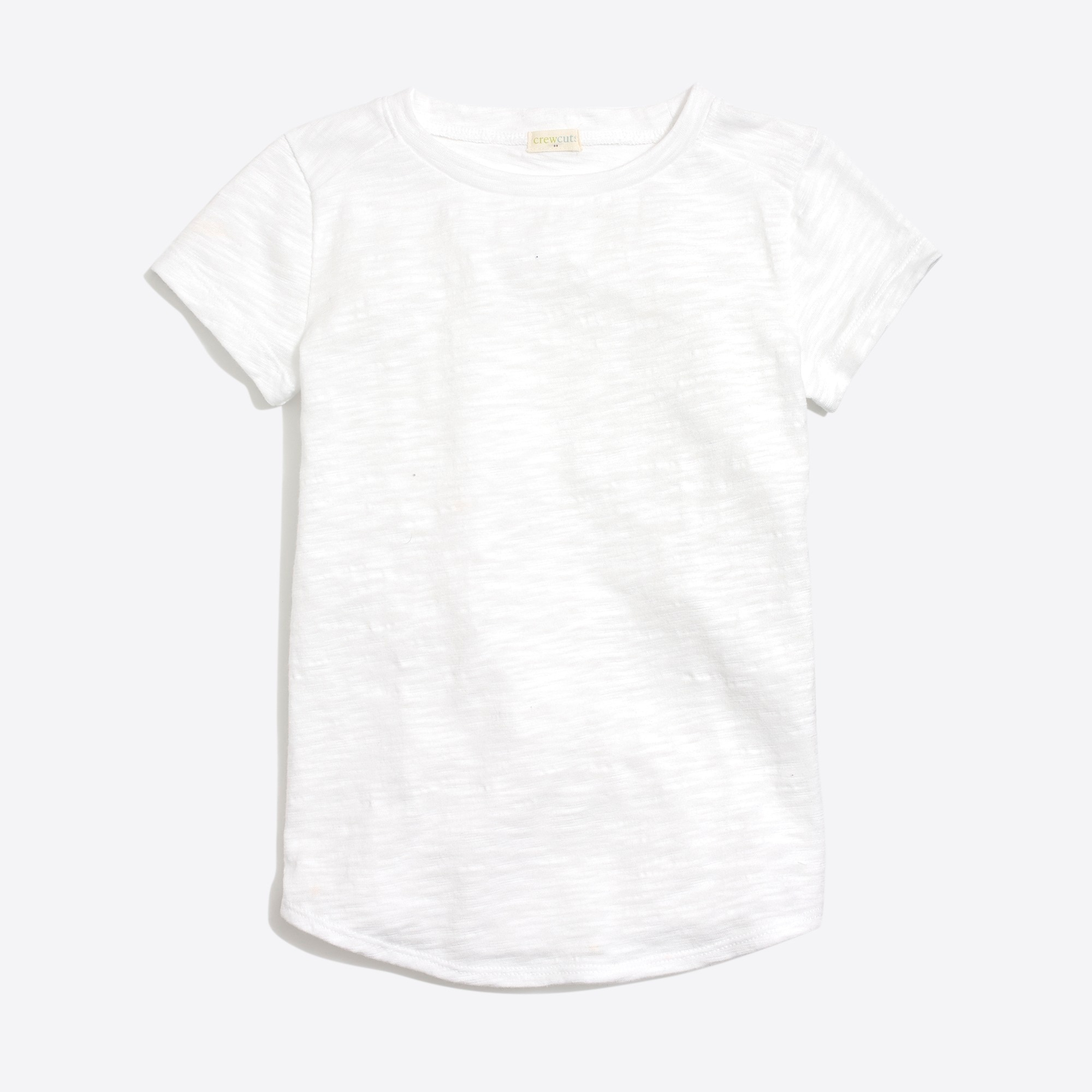 factory girls Girls' short-sleeve shirttail-hem T-shirt